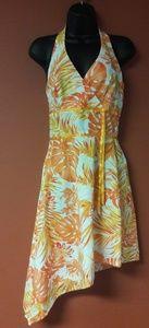 Alyn Paige orange floral print dress new